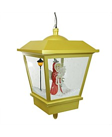 Lighted Musical Snowing Angel Hanging Christmas Street Lamp