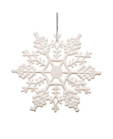 Club Pack Of Glitter Snowflake Christmas Ornaments