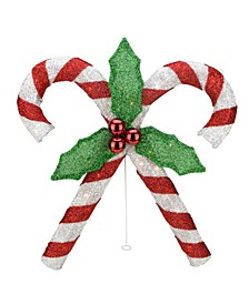 Double Candy Cane Lighted Outdoor Christmas Decor