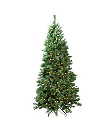 Pre-Lit Slim Glacier Pine Artificial Christmas Tree