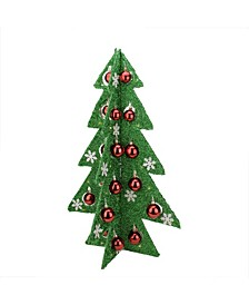 Battery Operated Tinsel LED Lighted Christmas Tree Table top Decor