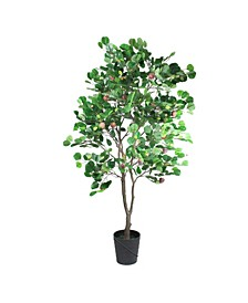 Unlit Potted Apple Two Tone Artificial Christmas Tree