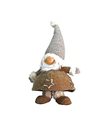 Plush and Portly Champagne Bobble Action Gnome Christmas Table top Figure