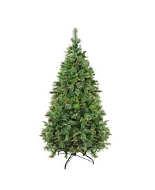 Pre-Lit Medium Ashcroft Cashmere Pine Artificial Christmas Tree-Clear Dura-Lit Lights