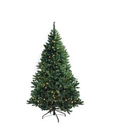 Pre-Lit Medium Buffalo Fir Artificial Christmas Tree Warm LED Lights