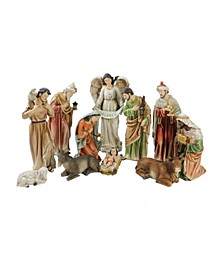 11-Piece Traditional Religious Christmas Nativity Figurine Set