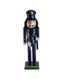 Wooden Christmas Nutcracker Police Officer