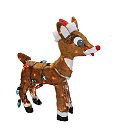 Pre-Lit Rudolph Nosed Reindeer Christmas Outdoor Decoration