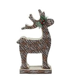 Wood Look Deer Statue Christmas Decor
