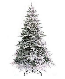 7.5' Calgary Spruce Snow Flocked Christmas Tree