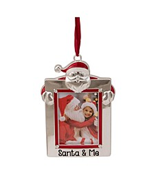 """Santa and Me"" Photo Frame Christmas Ornament with Crystals"