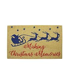 Santa and Reindeer Making Christmas Memories Doormat
