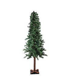 Unlit Slim Traditional Woodland Alpine Artificial Christmas Tree