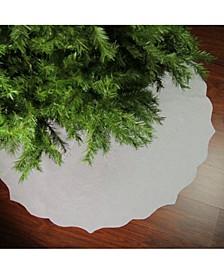 Christmas Traditions Scalloped Edge Christmas Tree Skirt