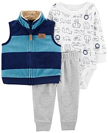 Baby Boy 3-Piece Little Vest Set