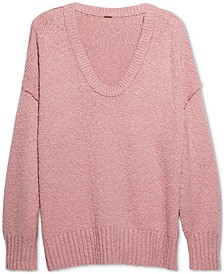 Brookside Dolman-Sleeve Tunic Sweater