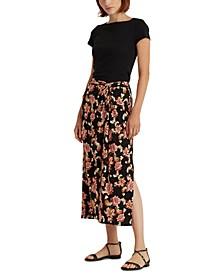 로렌 랄프로렌 스커트 Lauren Ralph Lauren Straight-Cut Midi Skirt,Polo Black Multi