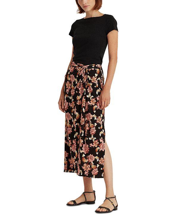 Lauren Ralph Lauren Straight-Cut Midi Skirt