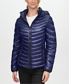 Hooded Packable Puffer Coat, Created for Macy's