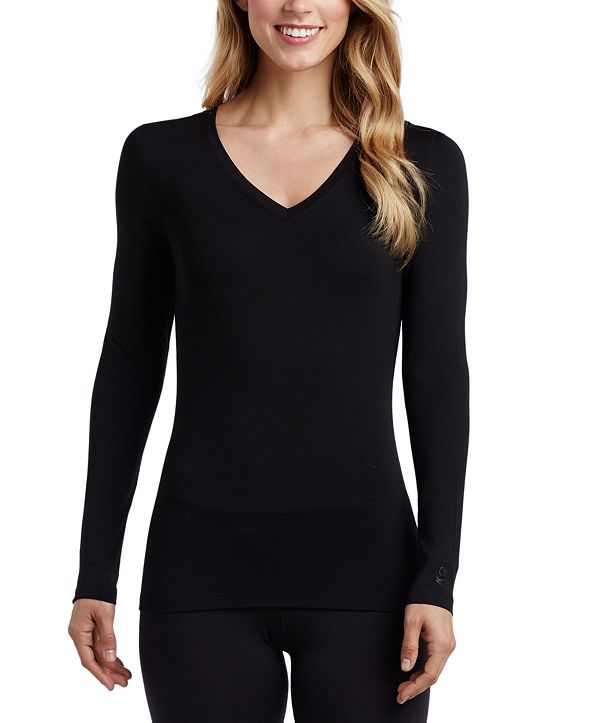 Cuddl Duds Softwear Long-Sleeve V-Neck Top