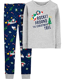 Big Boy 2-Piece Holiday Snug Fit Cotton PJs