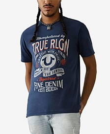 Men's Fine Denim Short Sleeve Crewneck Tee