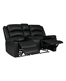 ProLounger 2 Seat Wall Hugger Recliner Loveseat with Power Storage Console