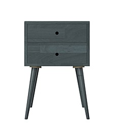 Rhodes Mid Century Modern Wood End Table with Drawers