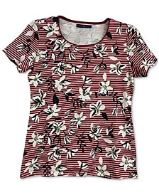 Striped Floral T-Shirt, Created for Macy's