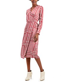 Faux Wrap Midi Dress, Created for Macy's
