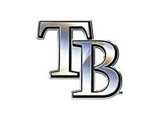 Tampa Bay Rays Metal Auto Emblem