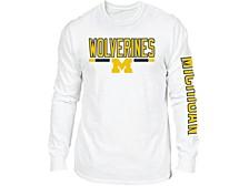 Retro Brand Michigan Wolverines Men's Team Stripe Long Sleeve T-Shirt