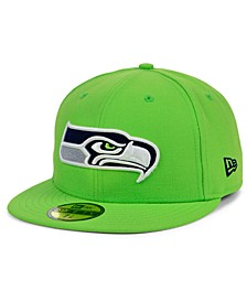 Seattle Seahawks Basic Fashion 59FIFTY FITTED Cap