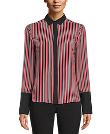 Anne Klein Striped Blouse