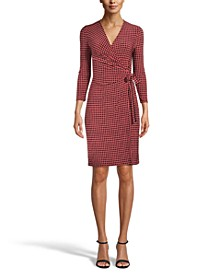 Dot-Print Wrap Dress