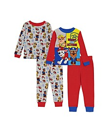 PAW Patrol Toddler Boys 4-Piece Pajama Set