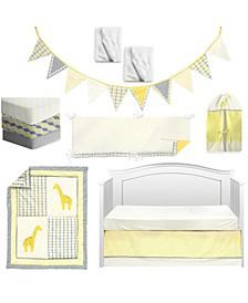 Argyle Giraffe Crib Bedding Set
