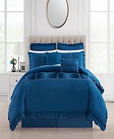 Yvette 8 Piece Queen Comforter Set