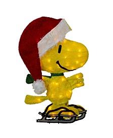 Pre-Lit Peanuts Woodstock On Ice Skates Outdoor Christmas Decoration