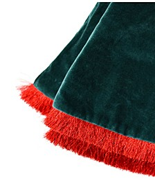 by Laura Johnson Velvet Tree Skirt with Trim