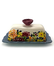 Gibson Ceramic Floral Butter Dish