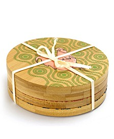 4 Piece Bamboo Coaster Set