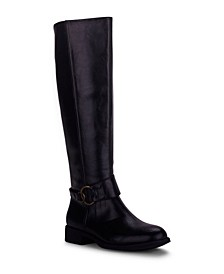 Women's Garret Buckle Strap Riding Boots