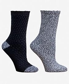 2-Pk. Garter Stitch Boot Crew Socks