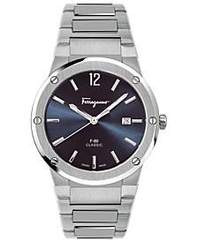 Men's Swiss F-80 Classic Stainless Steel Bracelet Watch 41mm