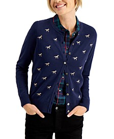 Horse-Print Cardigan, Created for Macy's