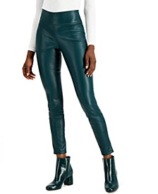 Faux-Leather Leggings, Created for Macy's
