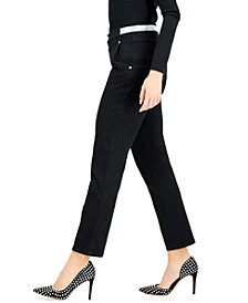 INC Embellished-Waist Ankle Pants, Created for Macy's