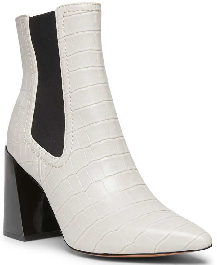 STEVEN NEW YORK - Nico Flared-Heel Chelsea Booties