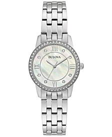 Women's Crystals Stainless Steel Bracelet Watch 27mm Box Set